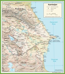 Political map of Azerbaijan