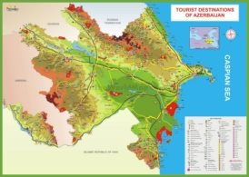 Tourist map of Azerbaijan