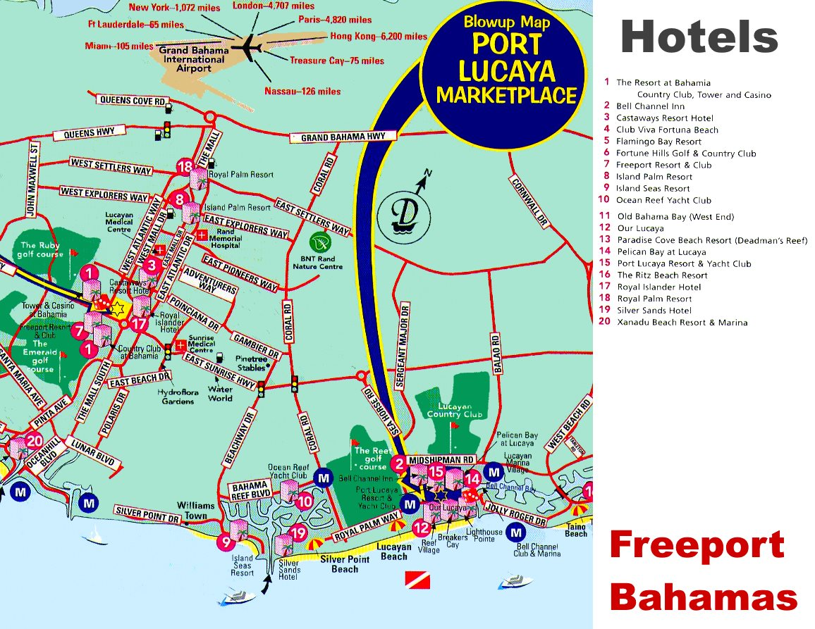 Freeport Hotels Map