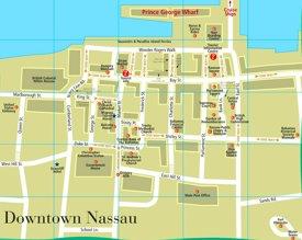 Nassau downtown map