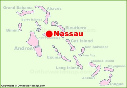 Nassau Location Map