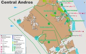 Central Andros Map