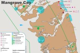 Mangrove Cay Map