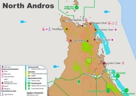 North Andros Map