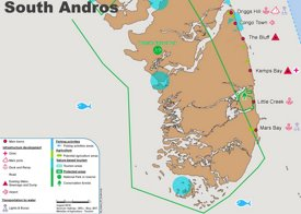 South Andros Map