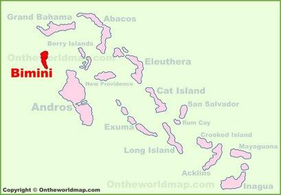 Bimini Location Map