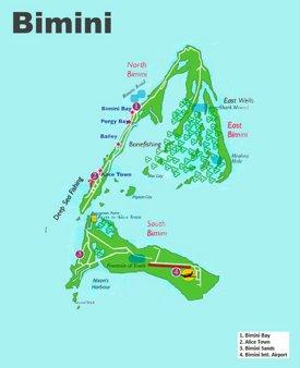 Bimini tourist map