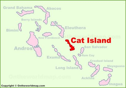 Cat Island Location Map