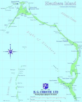 Eleuthera tourist map