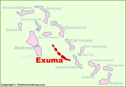 Exuma Location Map