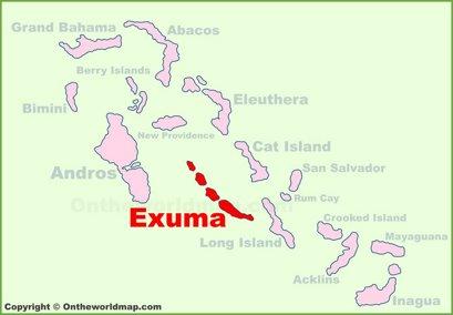 Exuma Location Map