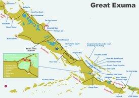 Exuma tourist map