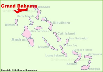 Grand Bahama Location Map