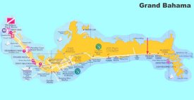 Grand Bahama tourist map