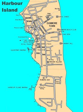 Harbour Island tourist map
