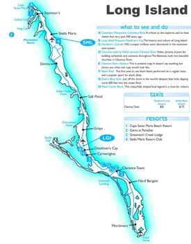 Long Island tourist map
