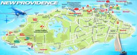 New Providence tourist map