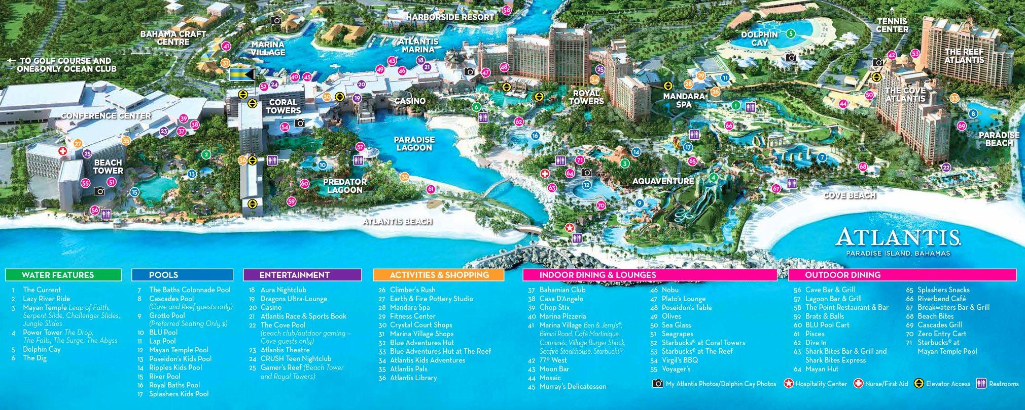 Atlantis Paradise Island Map