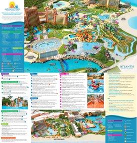 Atlantis Paradise Island tourist attractions map