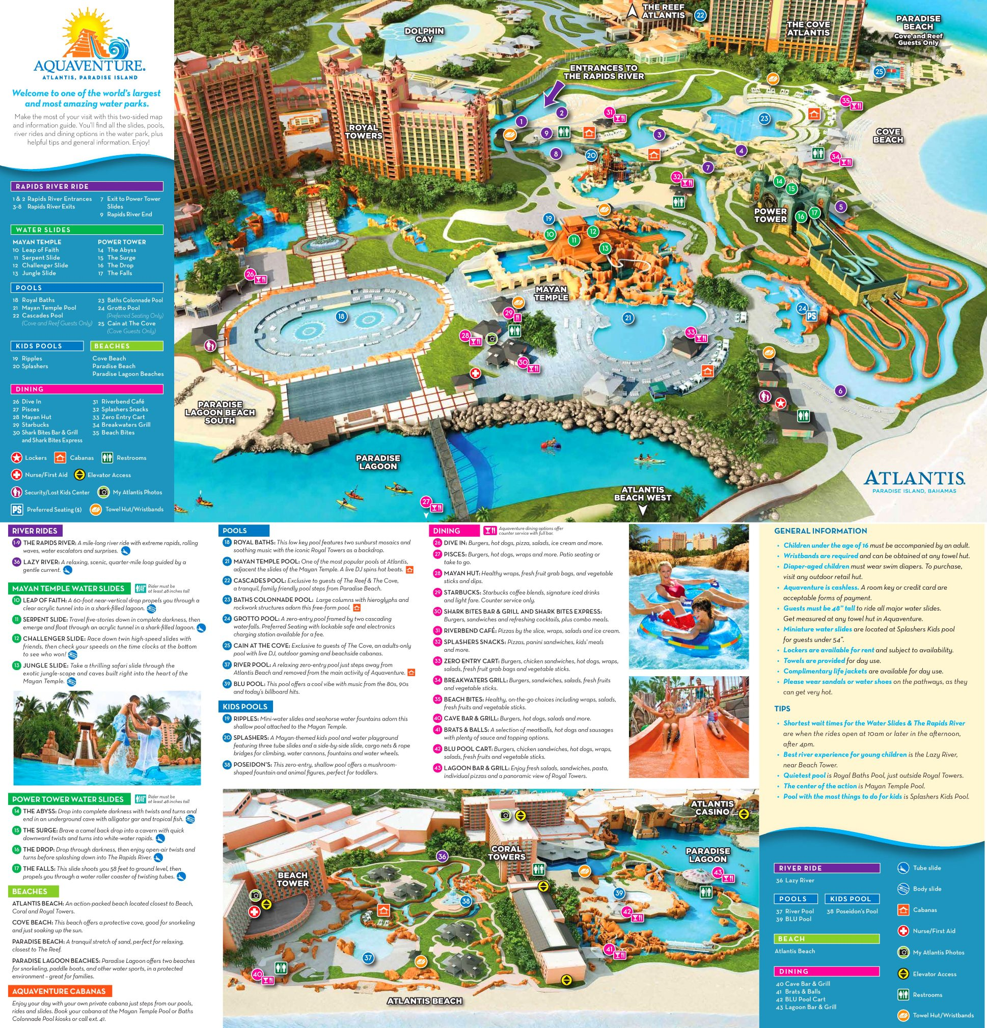 Best Attractions In North Texas: Atlantis Paradise Island Tourist Attractions Map