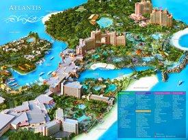 Atlantis Paradise Island tourist map