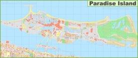 Large detailed map of Paradise Island