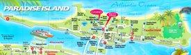 Paradise Island tourist map