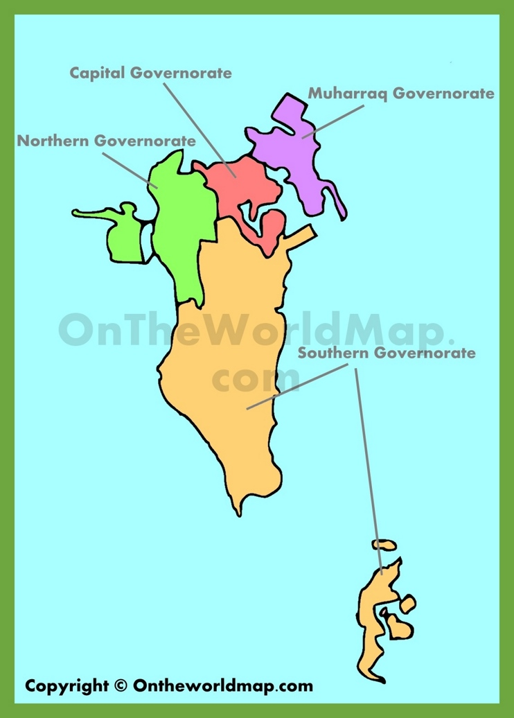Administrative map of Bahrain