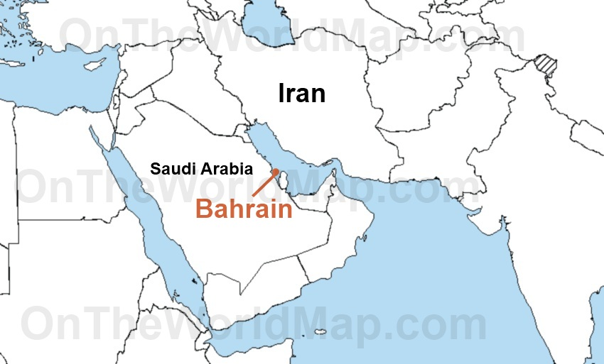 Bahrain on the World Map Bahrain on the Asia Map Bahrain on the Persian G