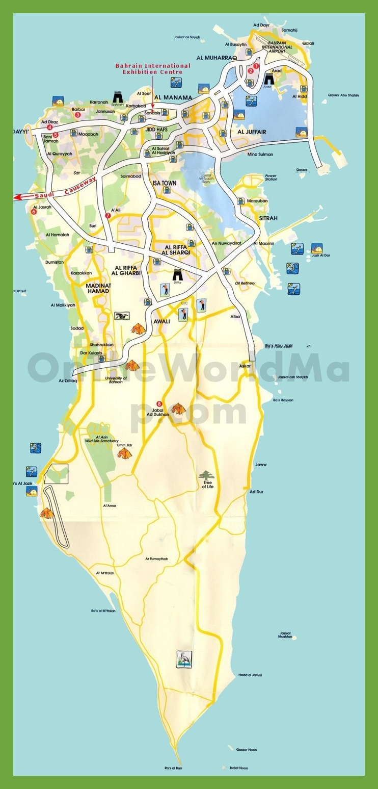 Tourist map of Bahrain