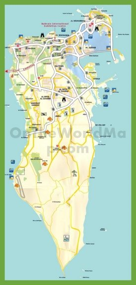 Bahrain Maps Maps of Bahrain