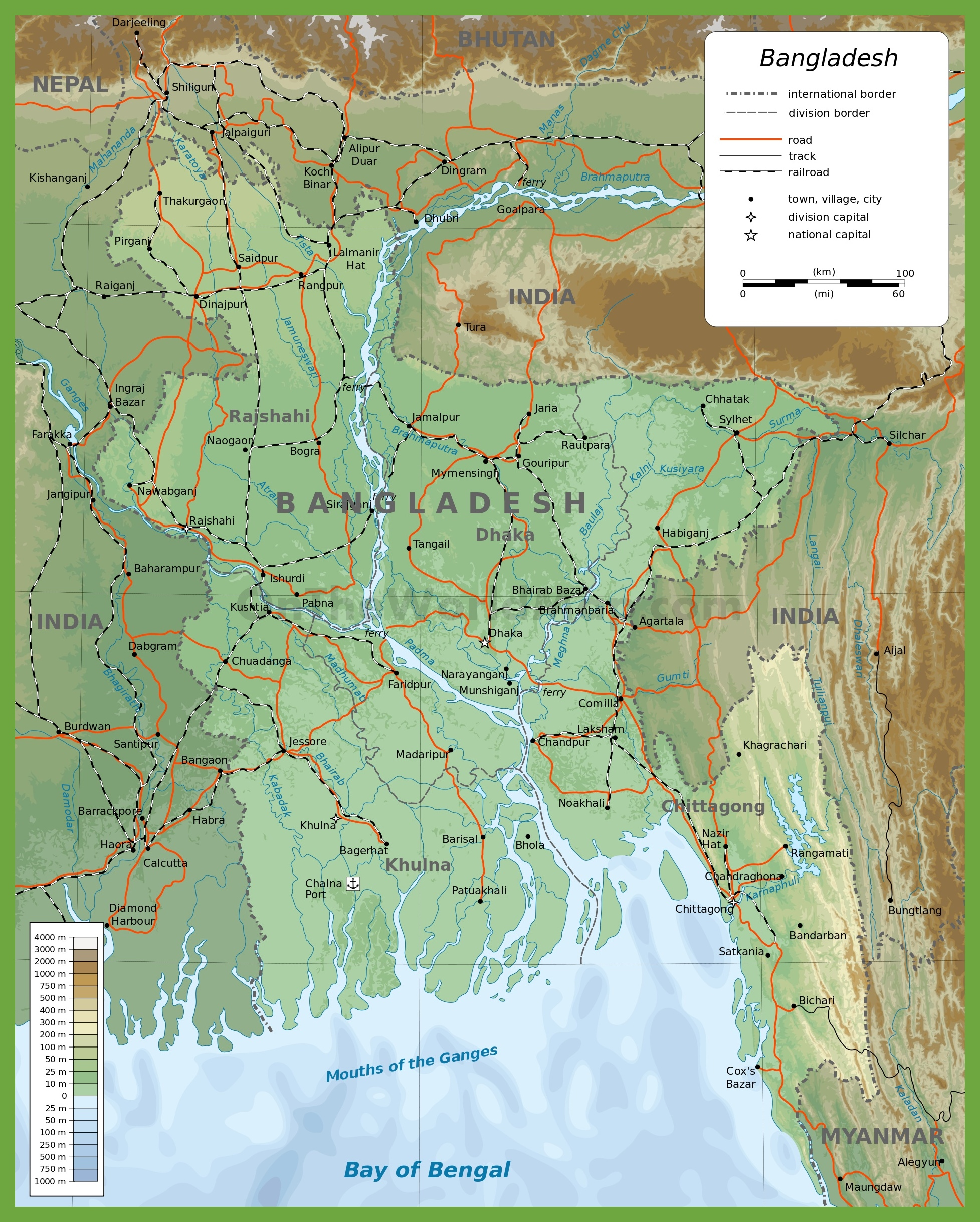 Bangladesh physical map bangladesh physical map gumiabroncs Gallery