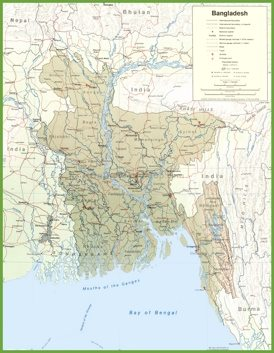 Road map of Bangladesh