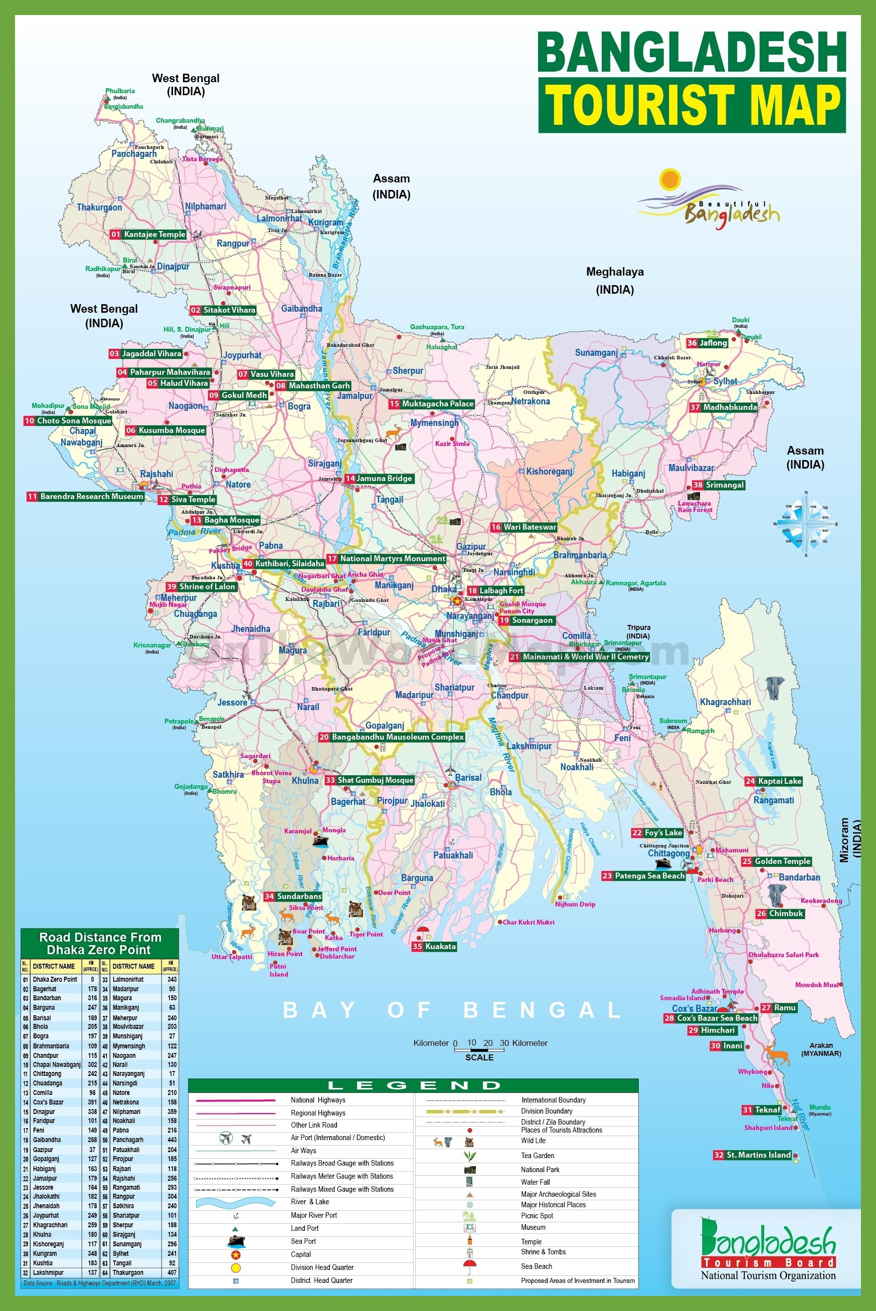Tourist map of bangladesh tourist map of bangladesh gumiabroncs Gallery