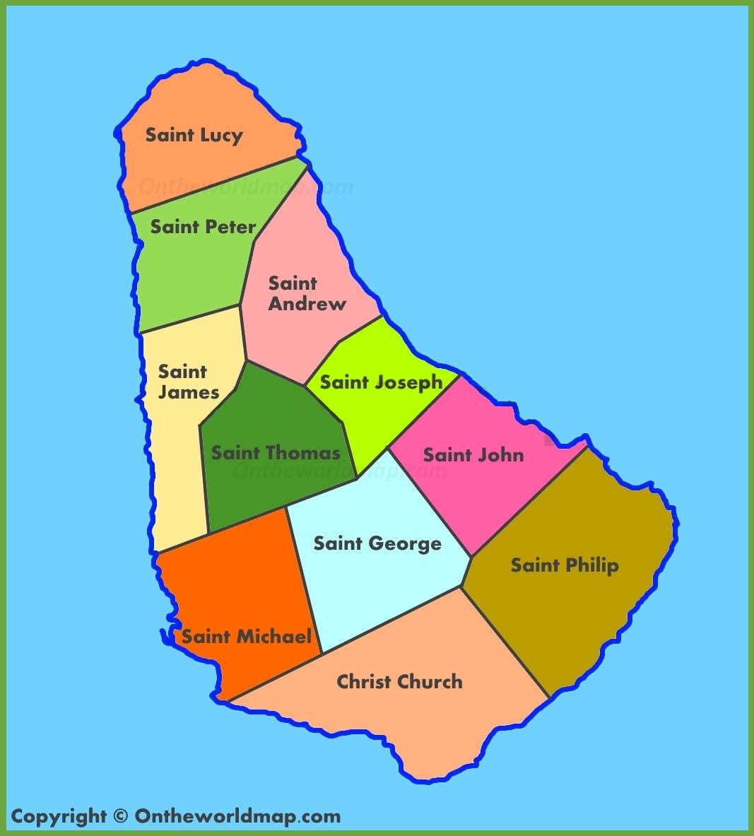 Map Of Barbados Administrative map of Barbados Map Of Barbados
