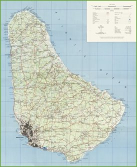 Large detailed map of Barbados