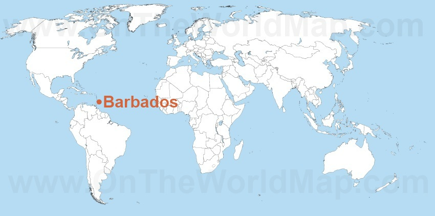 Barbados On World Map Like Success