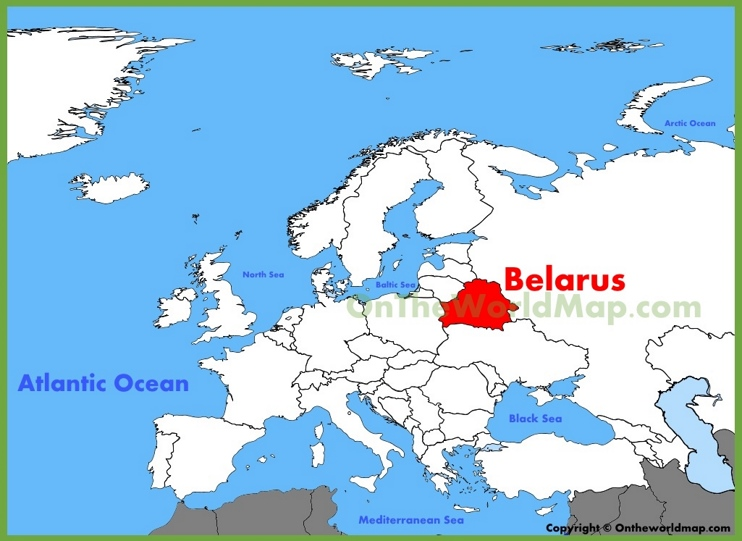 Belarus location on the Europe map