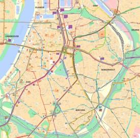Antwerp city center map