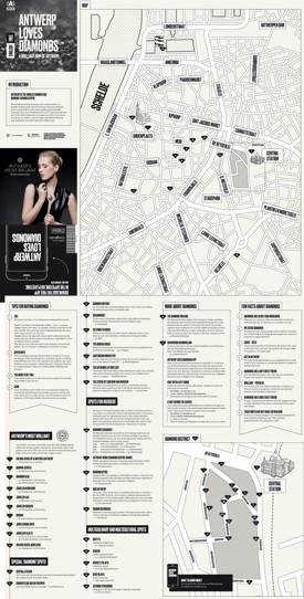 Antwerp diamonds map