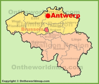Antwerp Location Map