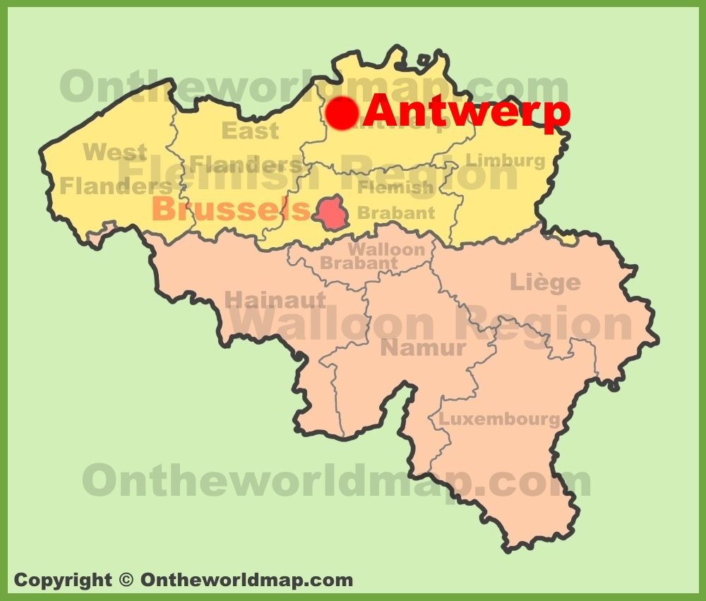 Antwerp maps belgium maps of antwerp antwerpen full size antwerp location map gumiabroncs Choice Image
