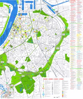 Antwerp tourist attractions map