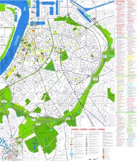 Antwerp tourist attractions map