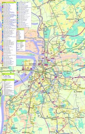 Antwerp transport map
