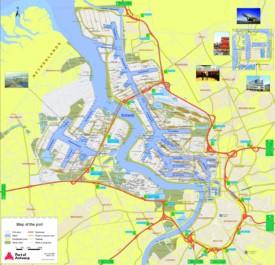 Port of Antwerp map