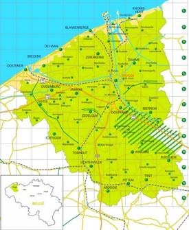 Bruges area map