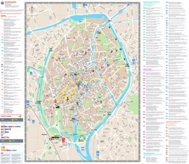 Bruges sightseeing map