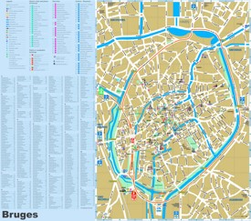 Bruges tourist attractions map