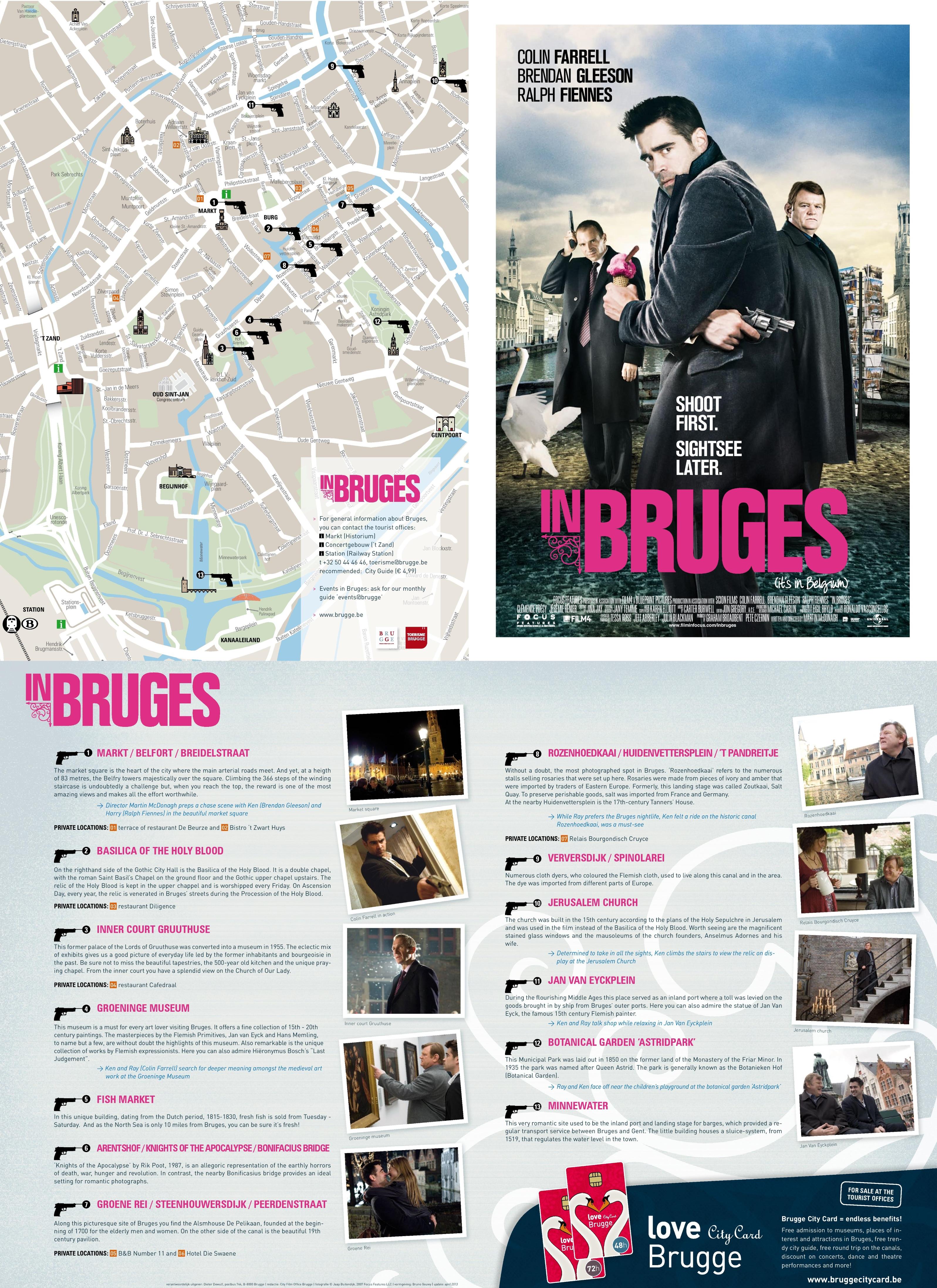Bruges France Map.In Bruges Movie Map